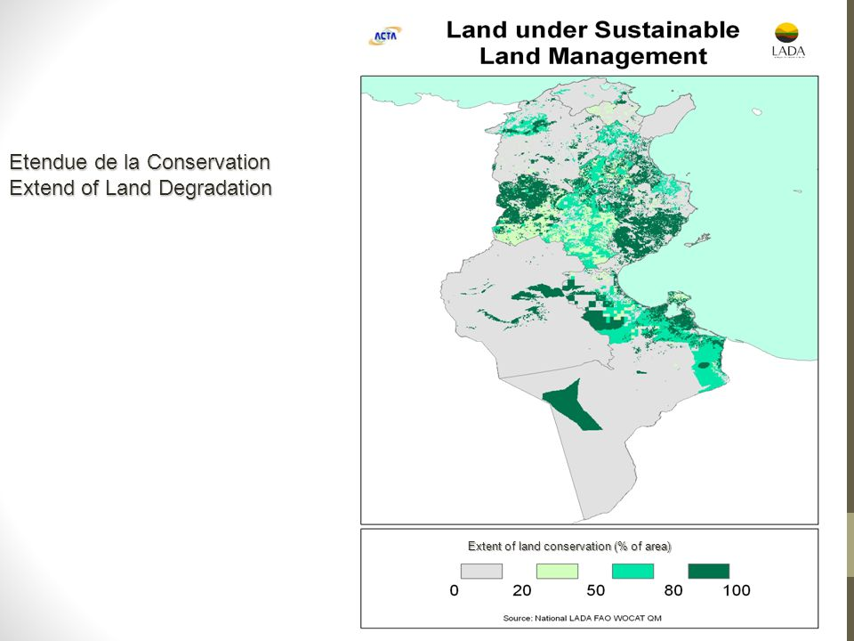 Etendue de la Conservation Extend of Land Degradation