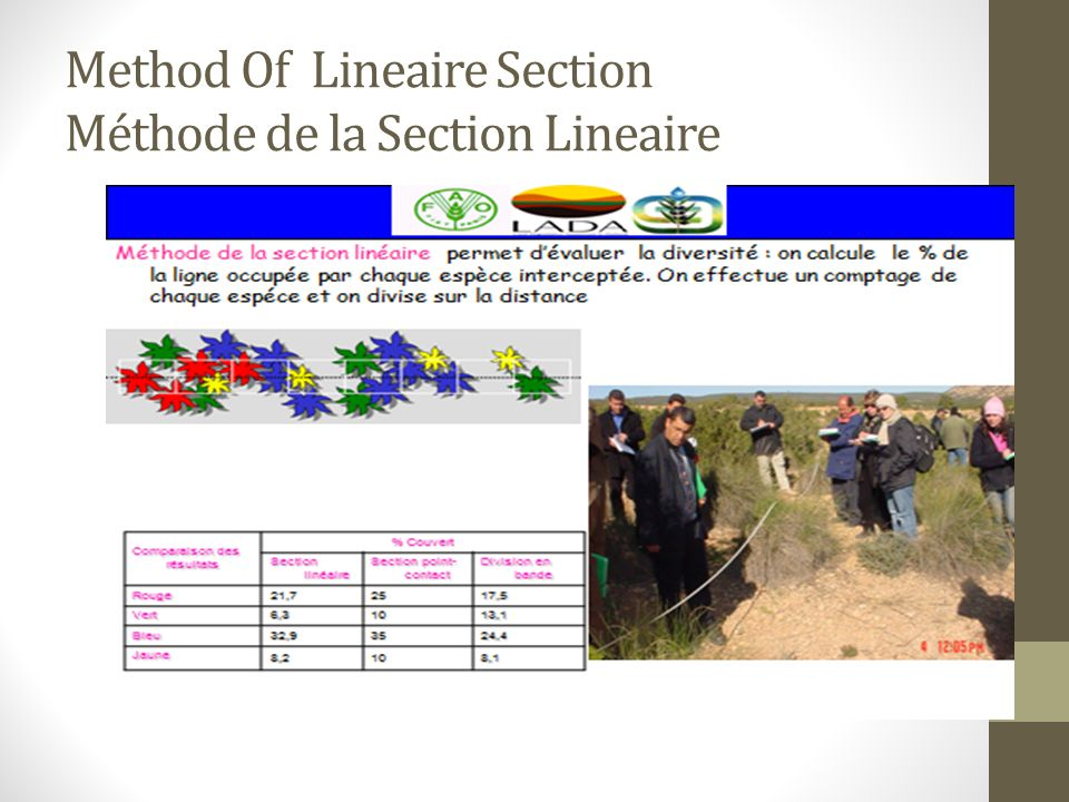 Method Of Lineaire Section Méthode de la Section Lineaire