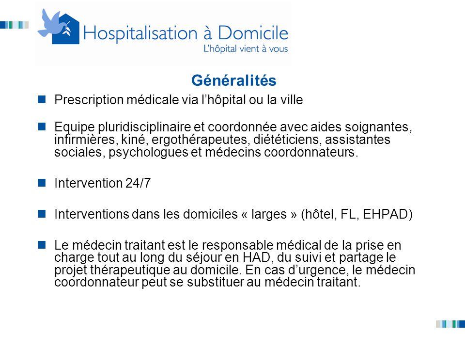 Généralités Prescription médicale via l'hôpital ou la ville