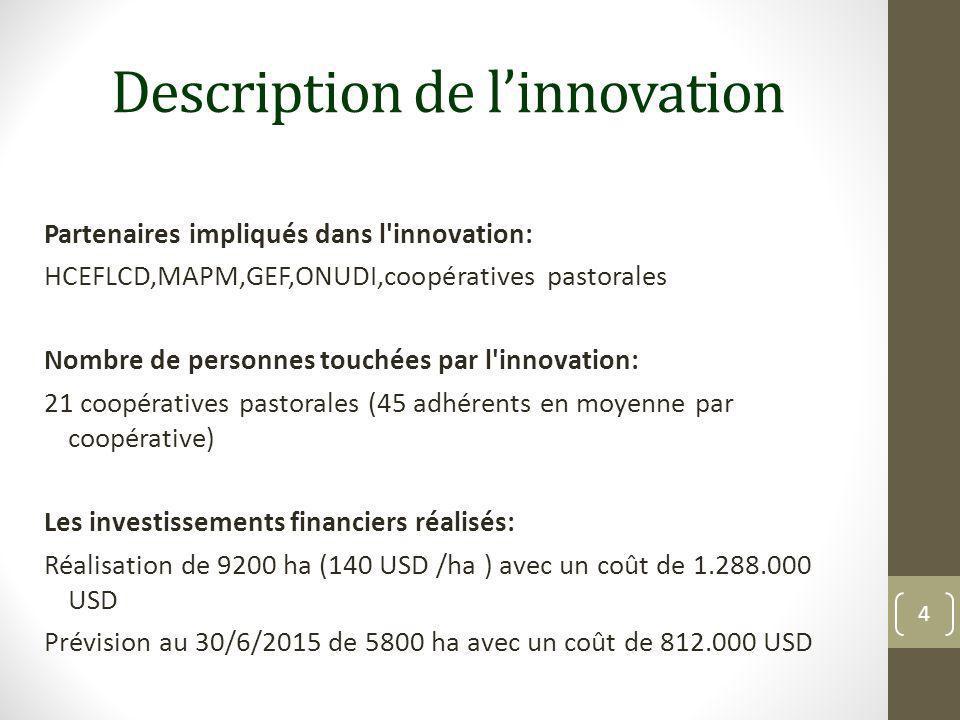 Description de l'innovation