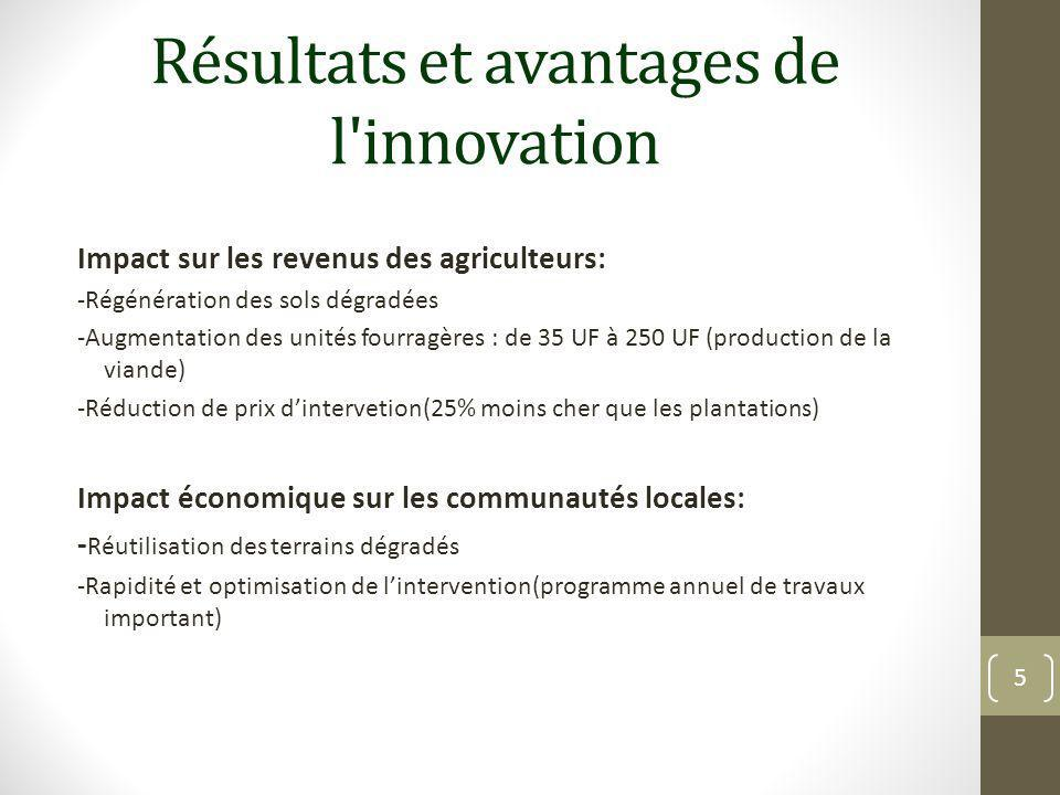 Résultats et avantages de l innovation