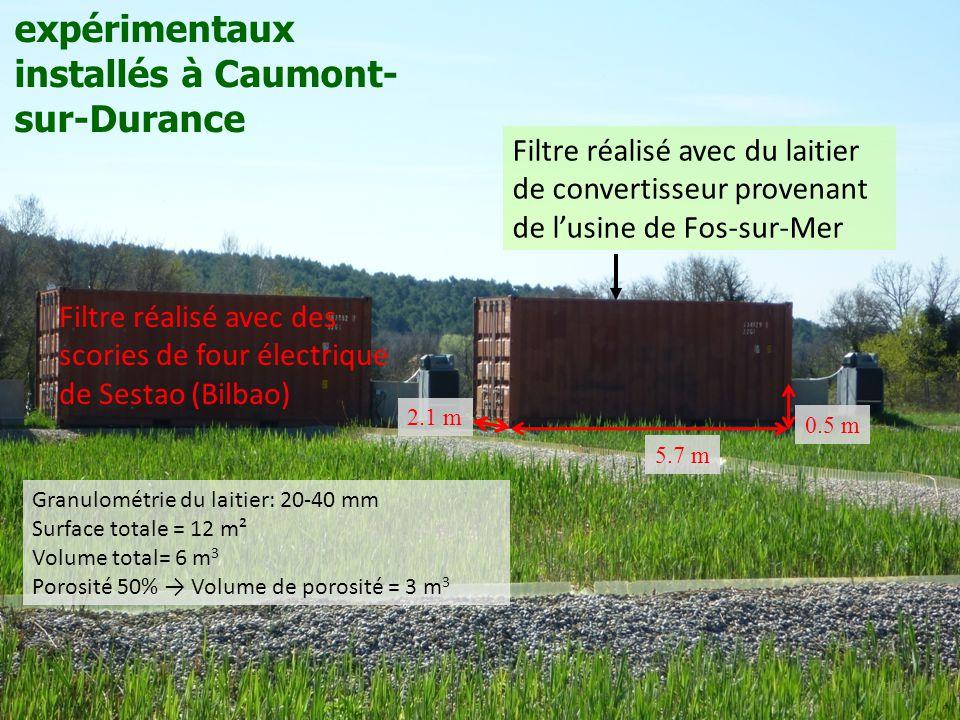 Les filtres à laitiers expérimentaux installés à Caumont-sur-Durance