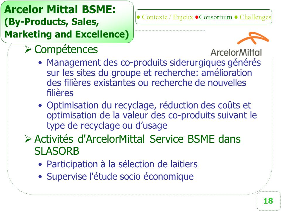 Arcelor Mittal BSME: (By-Products, Sales, Marketing and Excellence)