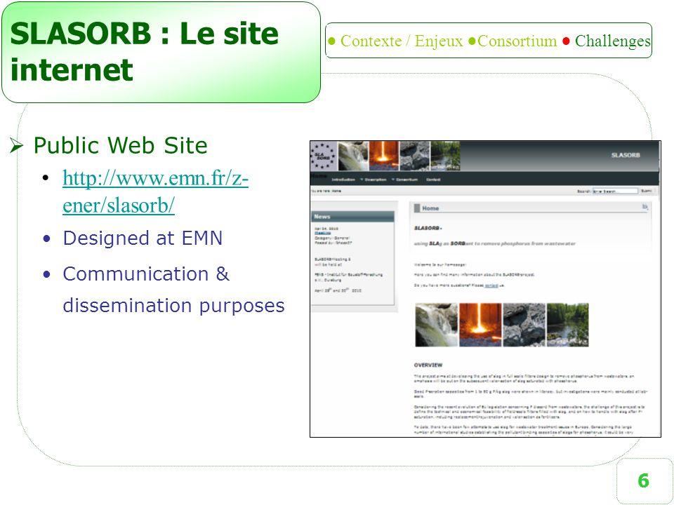 SLASORB : Le site internet