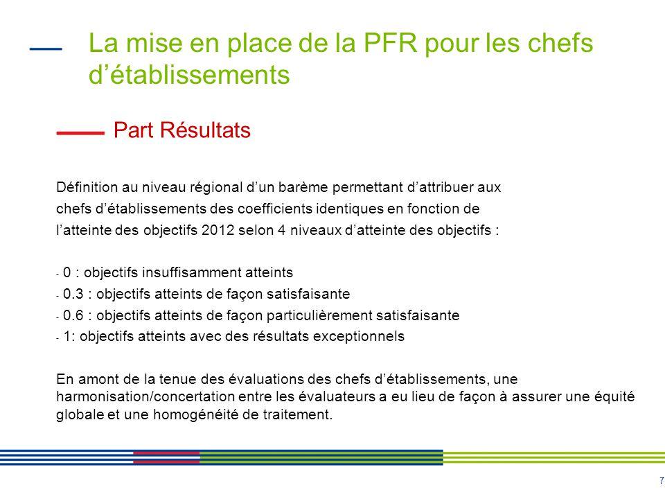 La mise en place de la PFR pour les chefs d'établissements