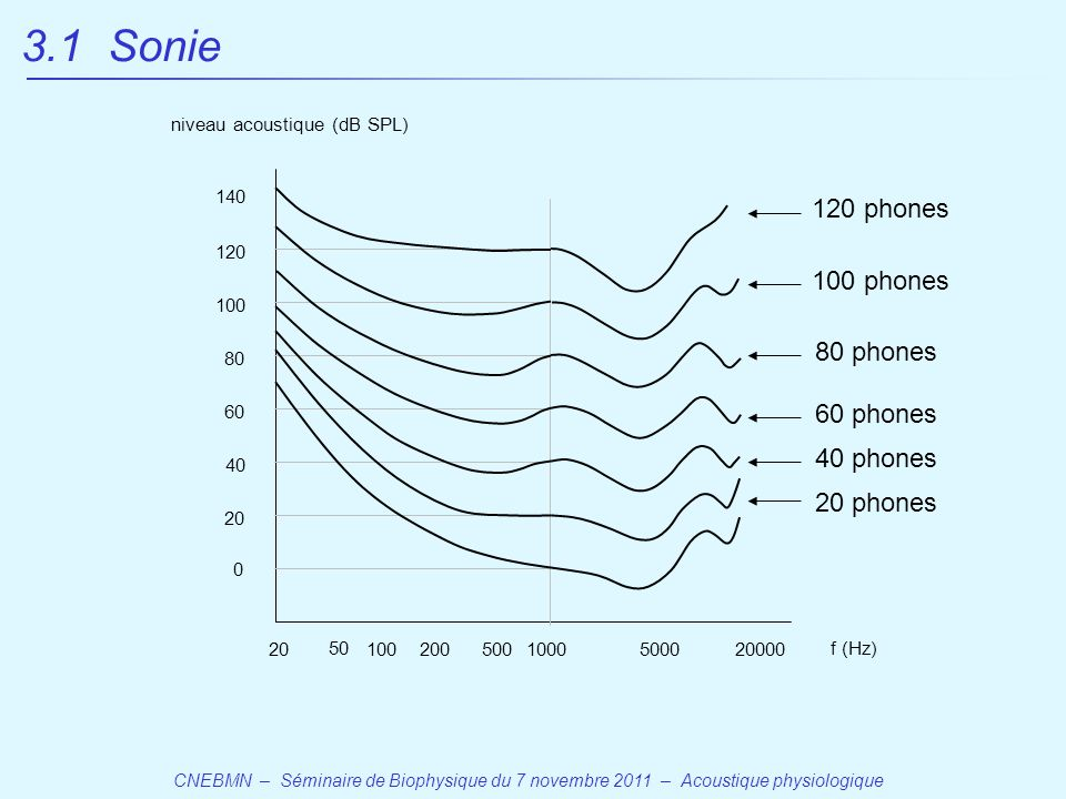 3.1 Sonie 120 phones 100 phones 80 phones 60 phones 40 phones