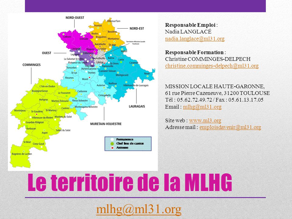 Le territoire de la MLHG