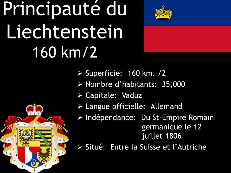 Principauté du Liechtenstein 160 km/2