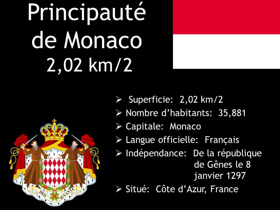 Principauté de Monaco 2,02 km/2