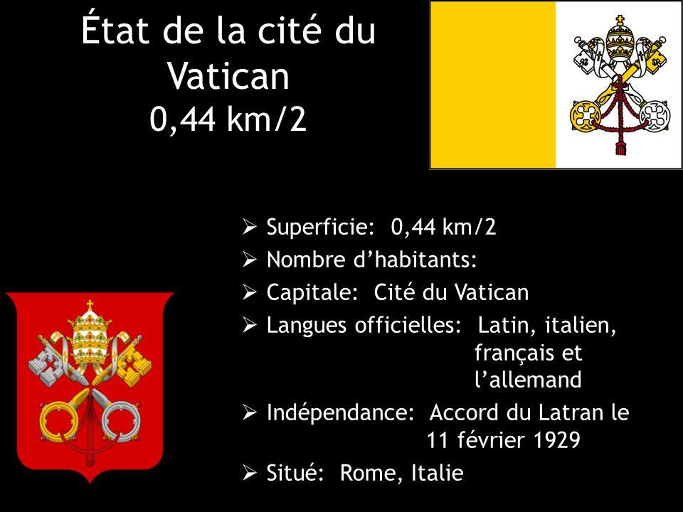 État de la cité du Vatican 0,44 km/2