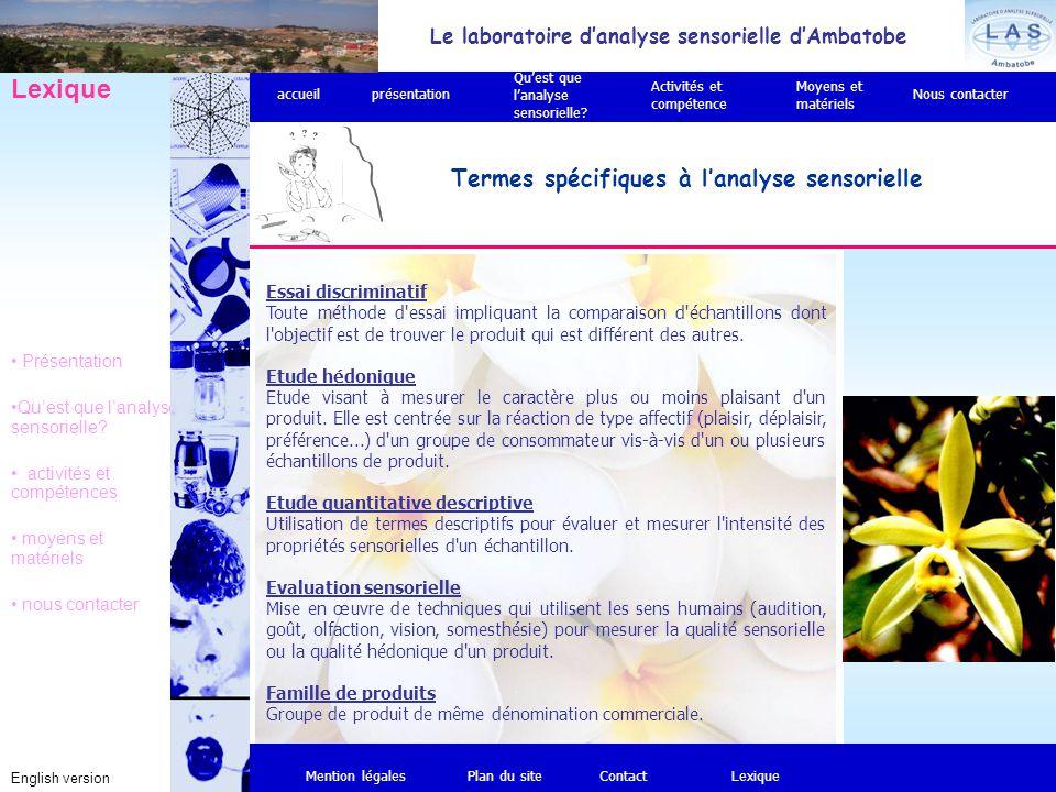 Le laboratoire d'analyse sensorielle d'Ambatobe