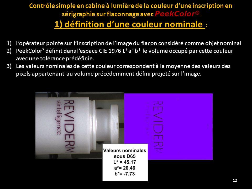 1) définition d'une couleur nominale :