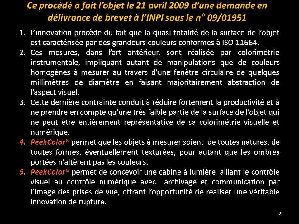 Ce procédé a fait l'objet le 21 avril 2009 d'une demande en délivrance de brevet à l'INPI sous le n° 09/01951