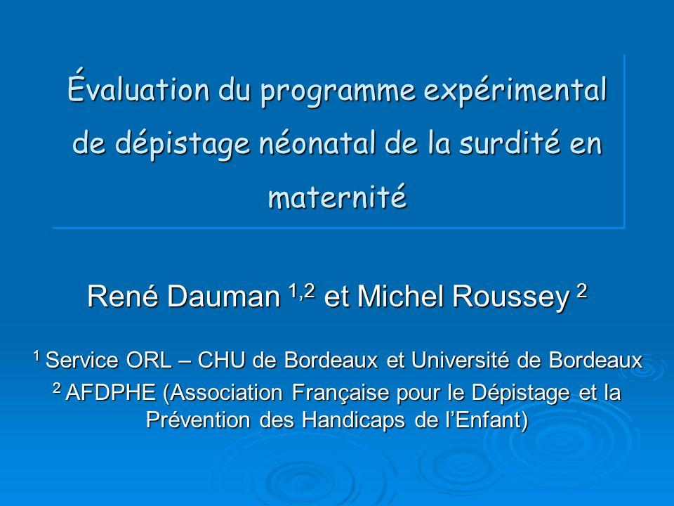 René Dauman 1,2 et Michel Roussey 2