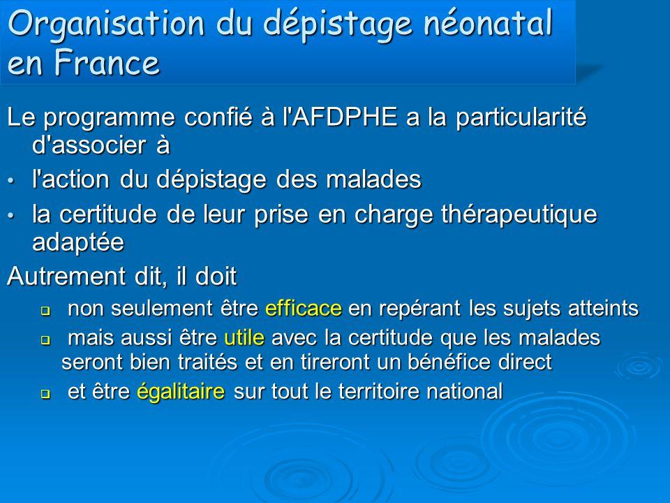 Organisation du dépistage néonatal en France