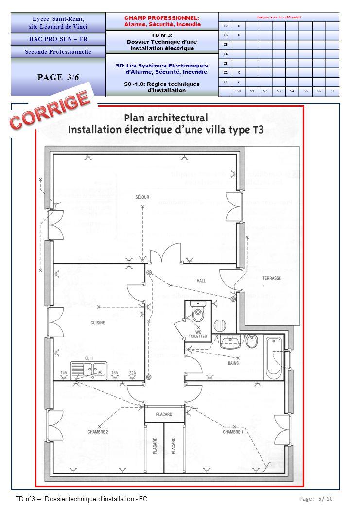 CORRIGE PAGE 3/6 Lycée Saint-Rémi, site Léonard de Vinci