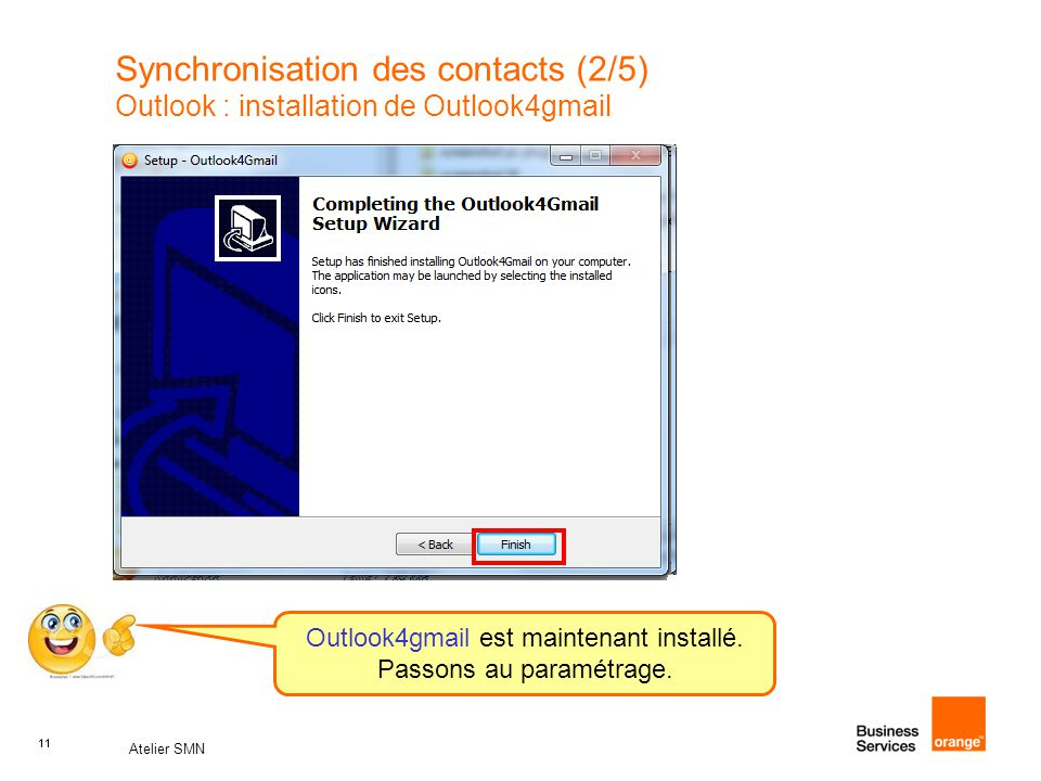 Synchronisation des contacts (2/5) Outlook : installation de Outlook4gmail