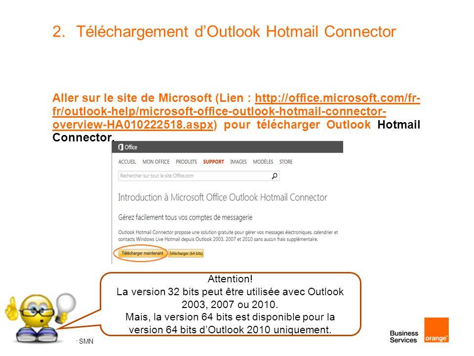 Téléchargement d'Outlook Hotmail Connector