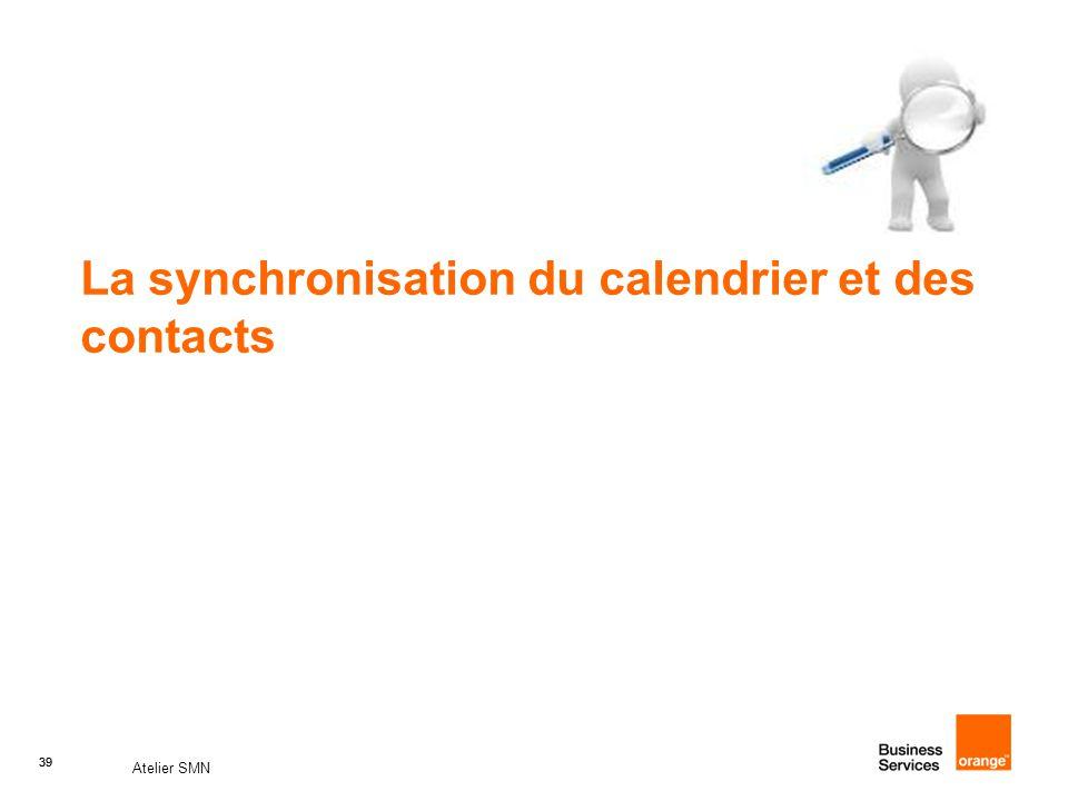 La synchronisation du calendrier et des contacts