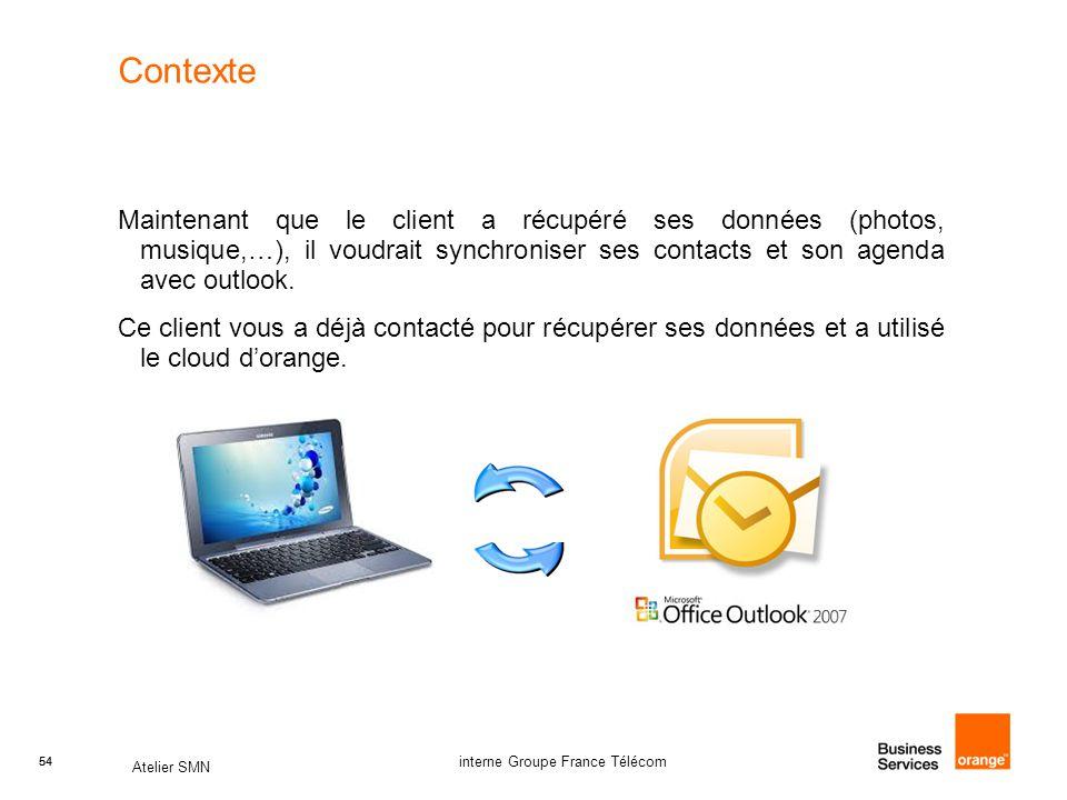 Contexte Maintenant que le client a récupéré ses données (photos, musique,…), il voudrait synchroniser ses contacts et son agenda avec outlook.