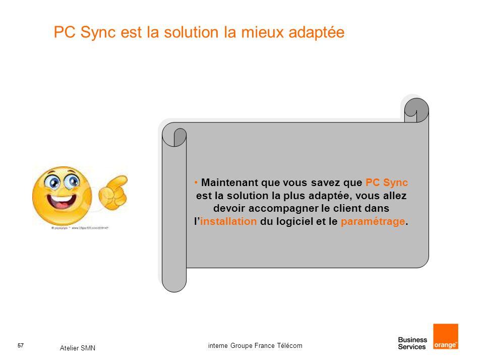 PC Sync est la solution la mieux adaptée