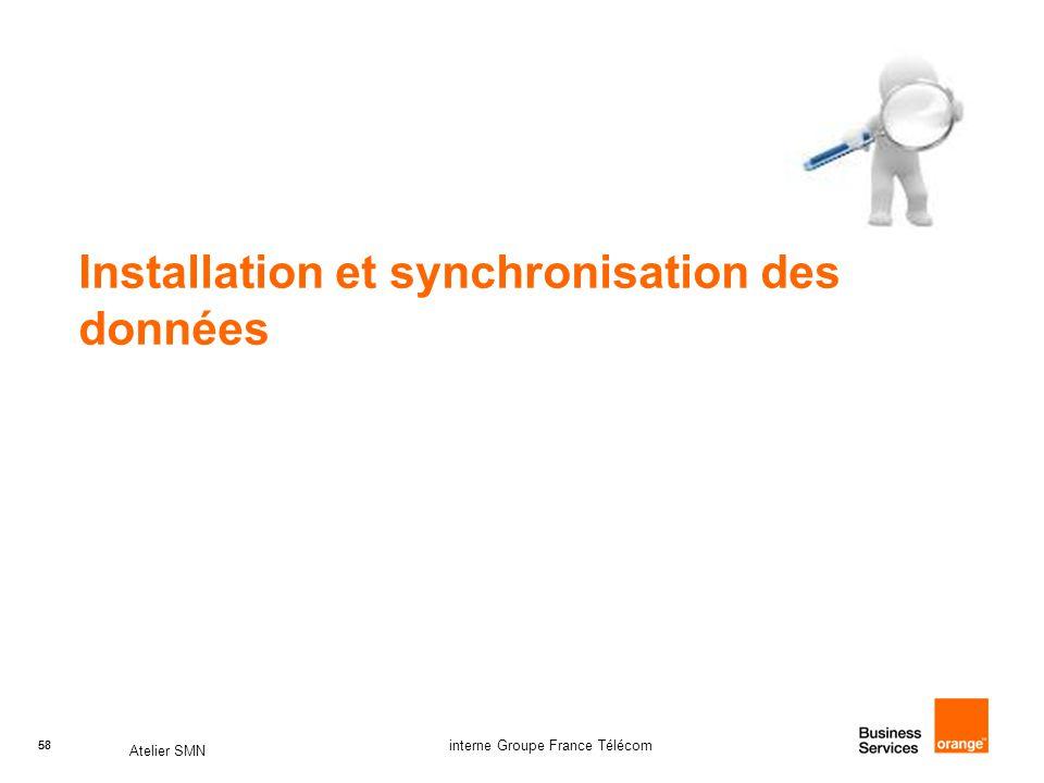 Installation et synchronisation des données