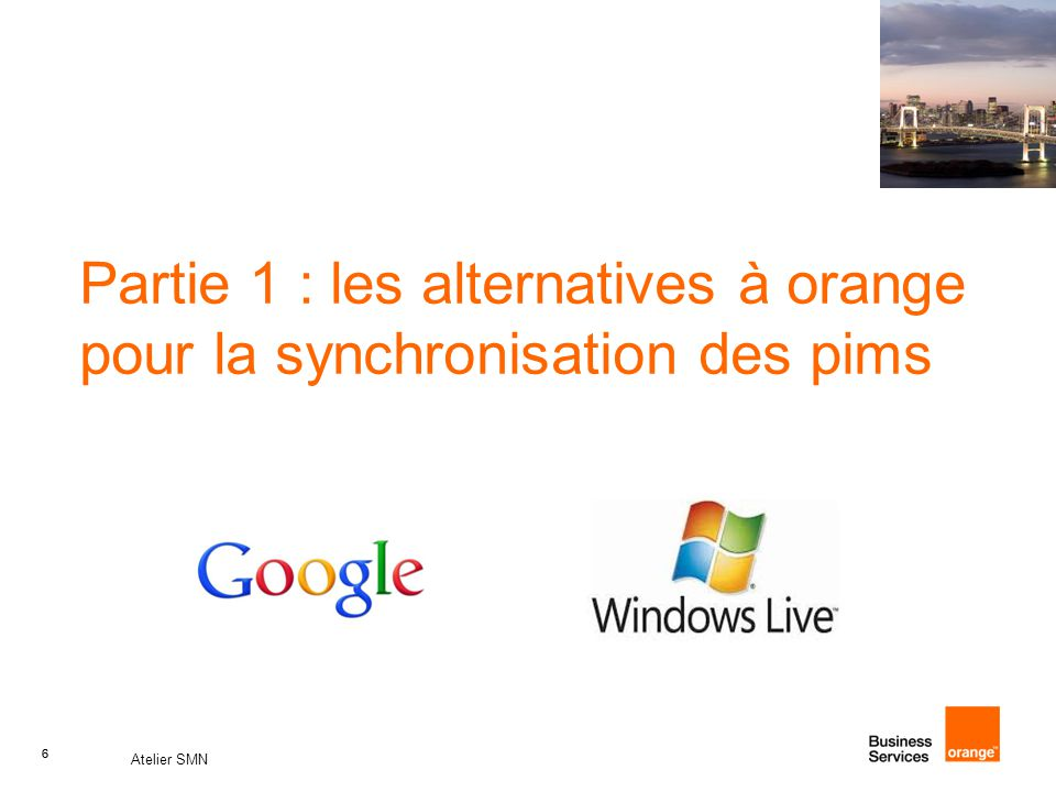 Partie 1 : les alternatives à orange pour la synchronisation des pims