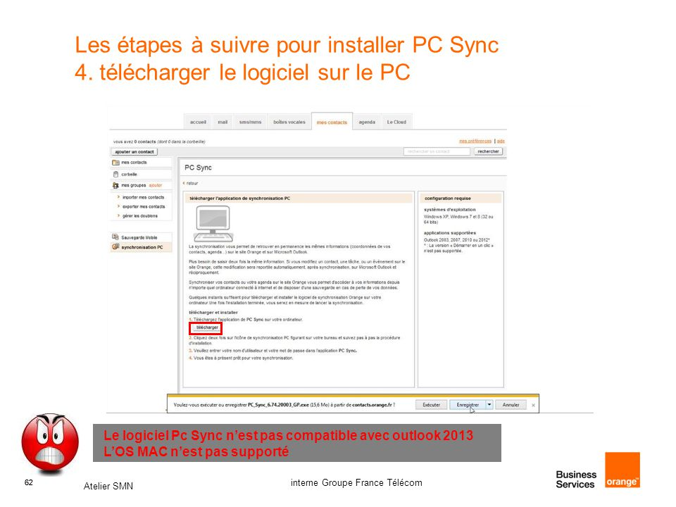 Les étapes à suivre pour installer PC Sync 4