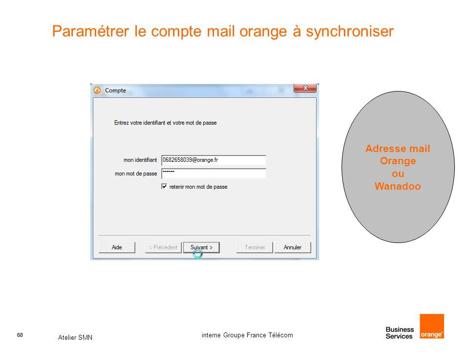 Paramétrer le compte mail orange à synchroniser