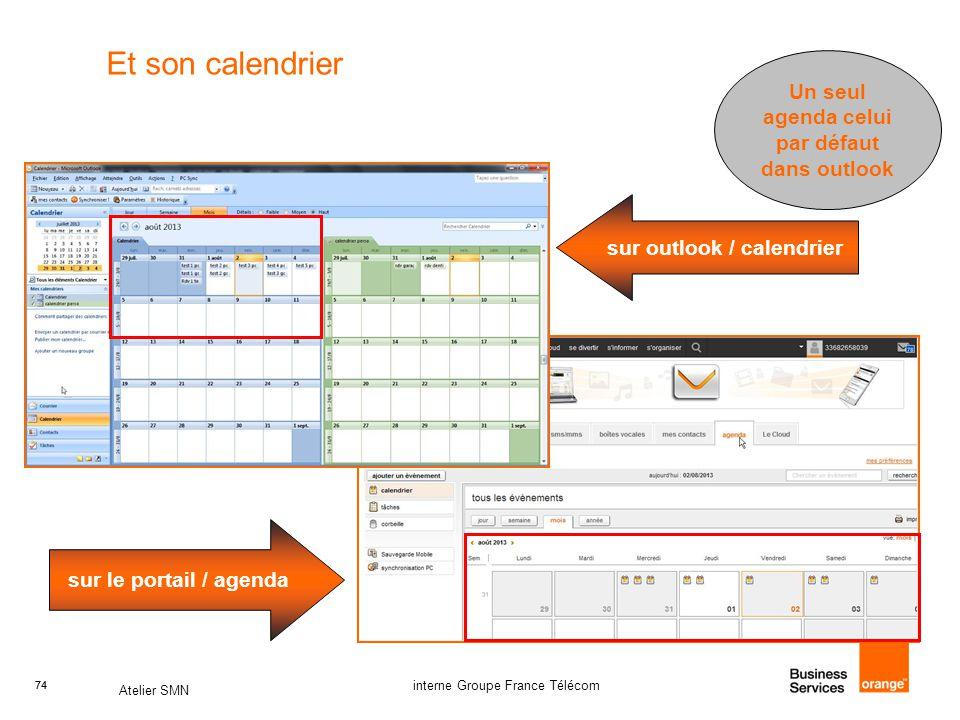 Un seul agenda celui par défaut dans outlook sur outlook / calendrier