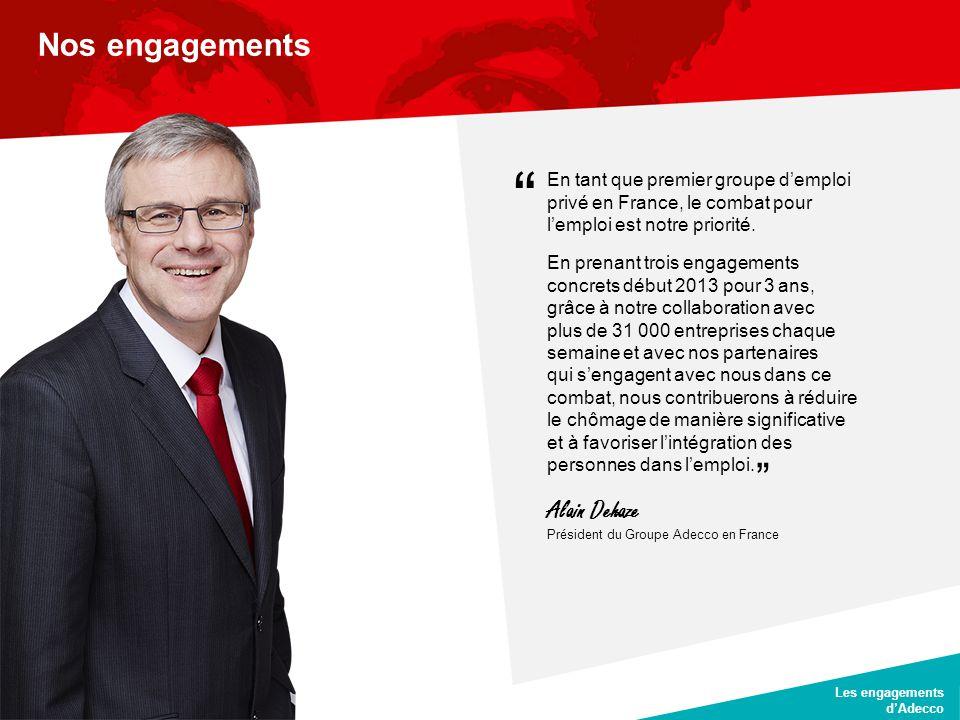 Nos engagements Alain Dehaze