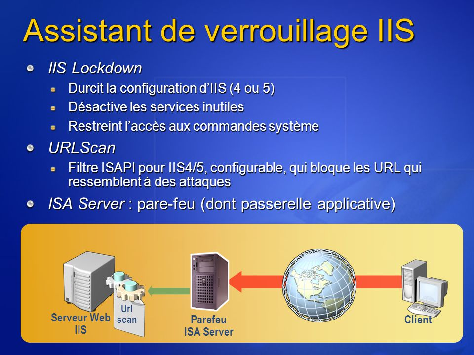 Assistant de verrouillage IIS