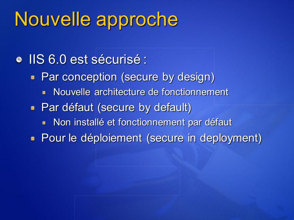 Nouvelle approche IIS 6.0 est sécurisé :