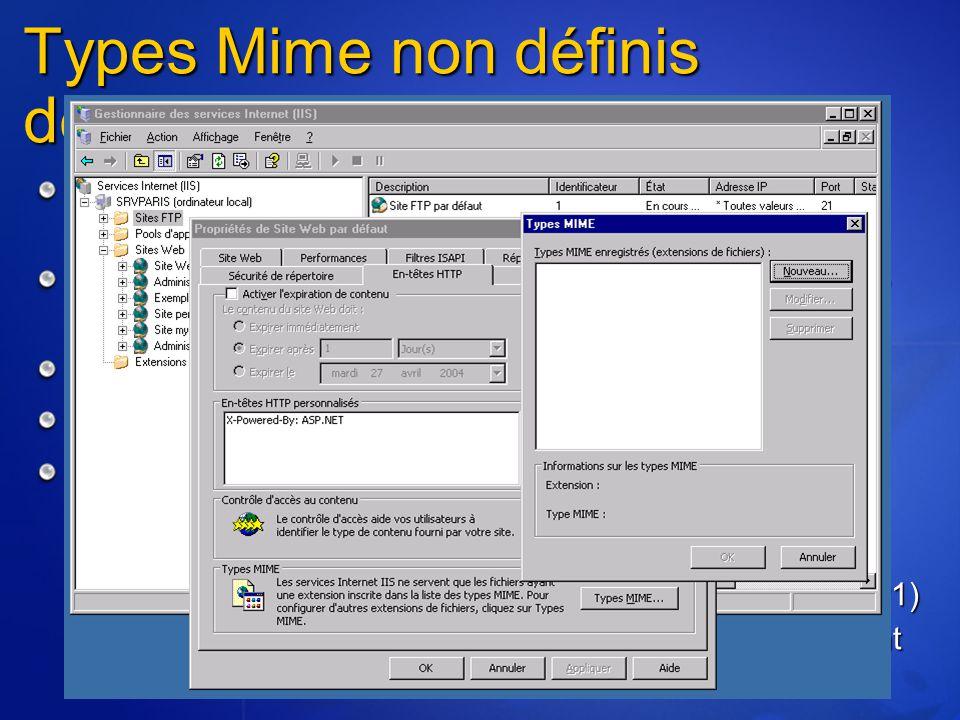 Types Mime non définis désactivés