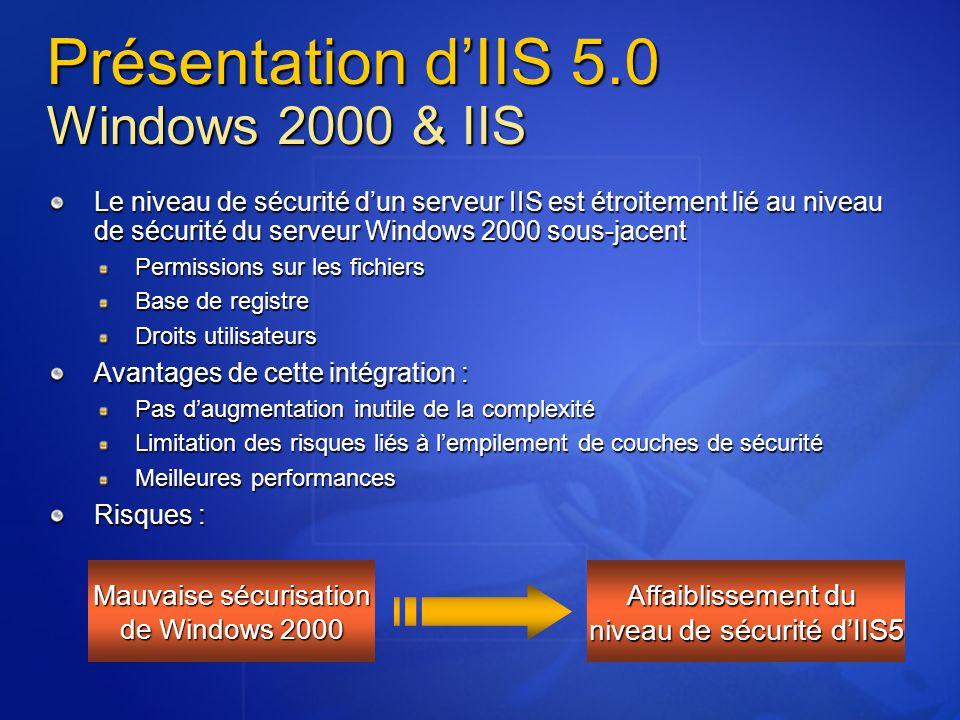 Présentation d'IIS 5.0 Windows 2000 & IIS