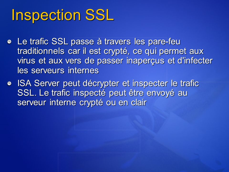 Inspection SSL