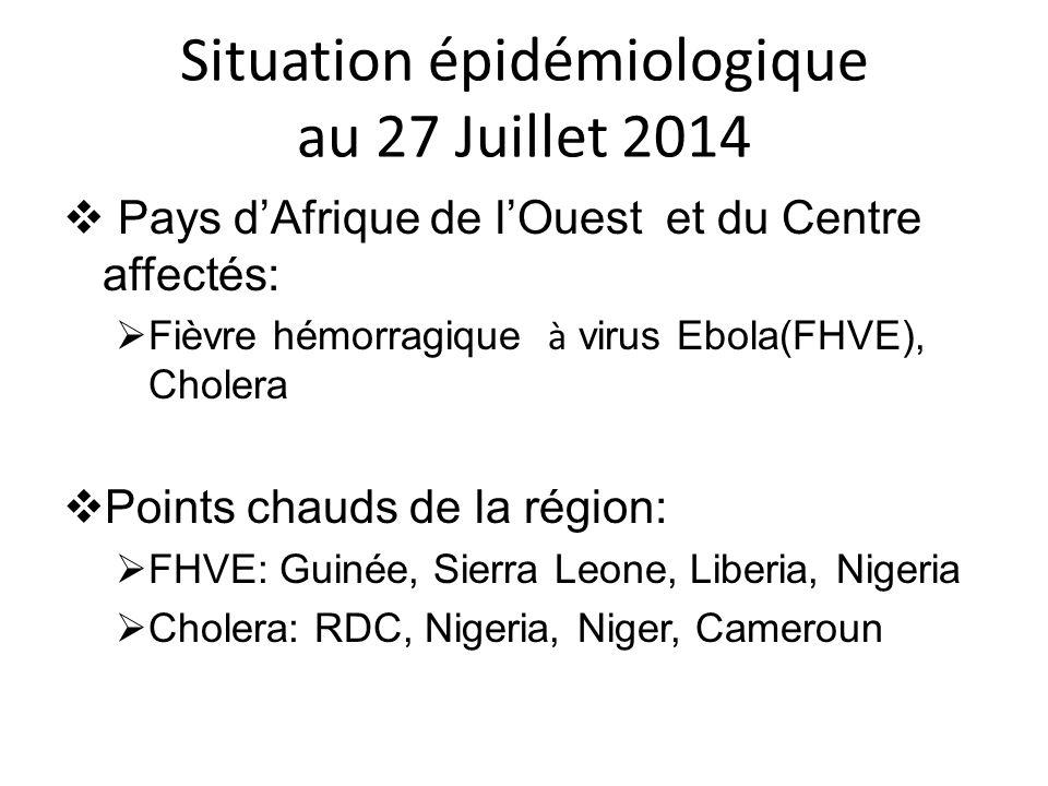 Situation épidémiologique au 27 Juillet 2014