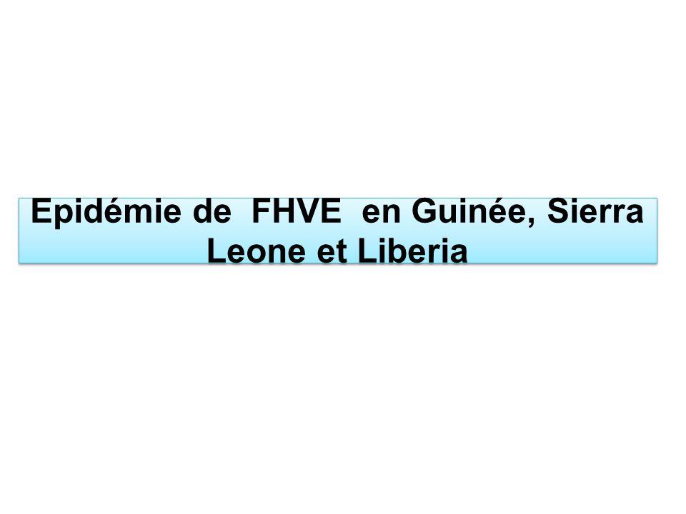 Epidémie de FHVE en Guinée, Sierra Leone et Liberia