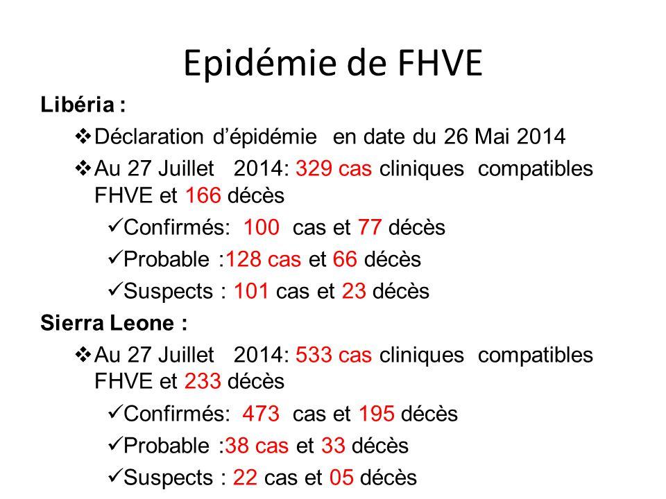 Epidémie de FHVE Libéria :