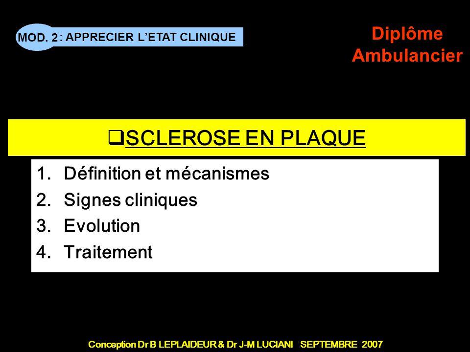 Définition et mécanismes Signes cliniques Evolution Traitement