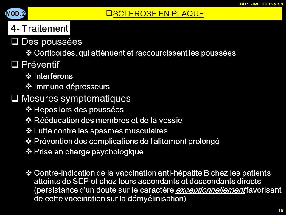 Mesures symptomatiques