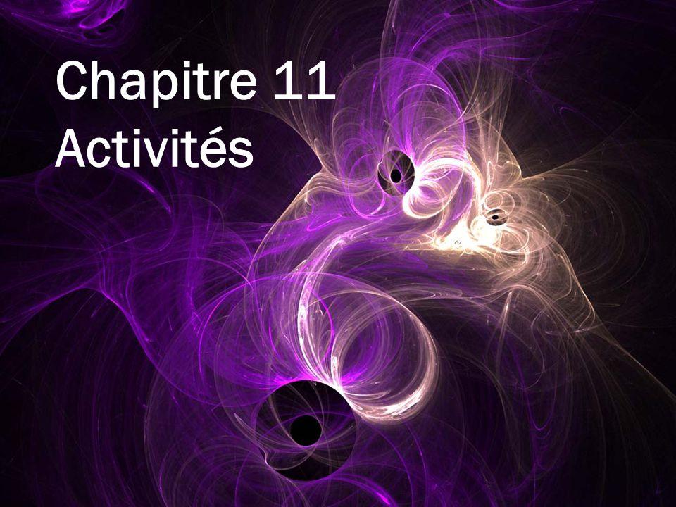 Chapitre 11 Activités