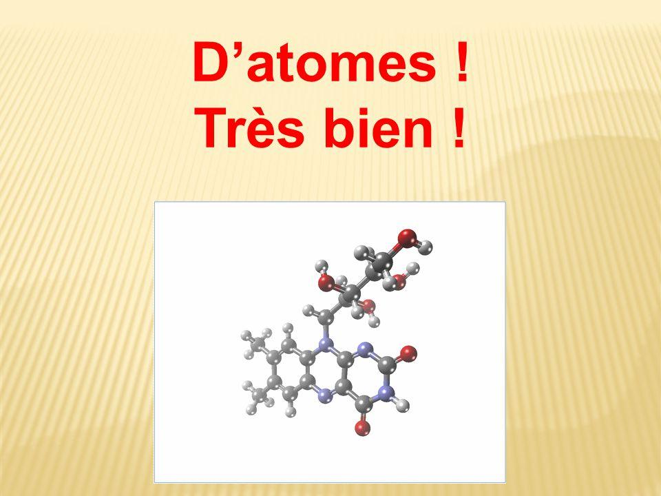D'atomes ! Très bien !