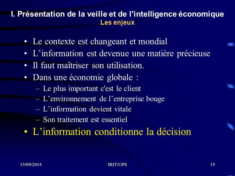 L'information conditionne la décision