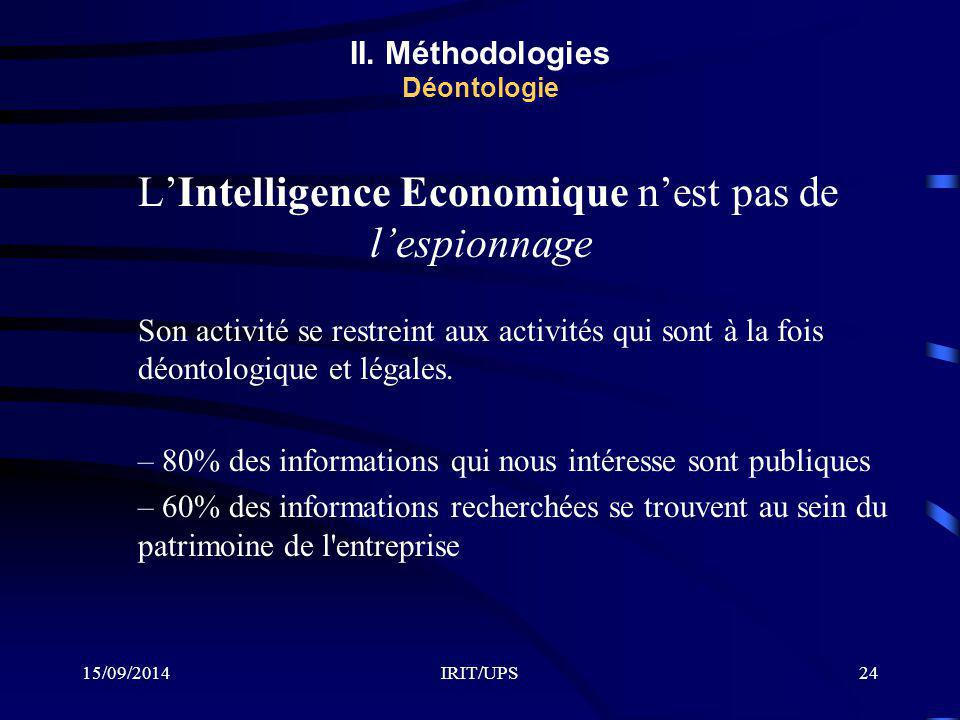 II. Méthodologies Déontologie