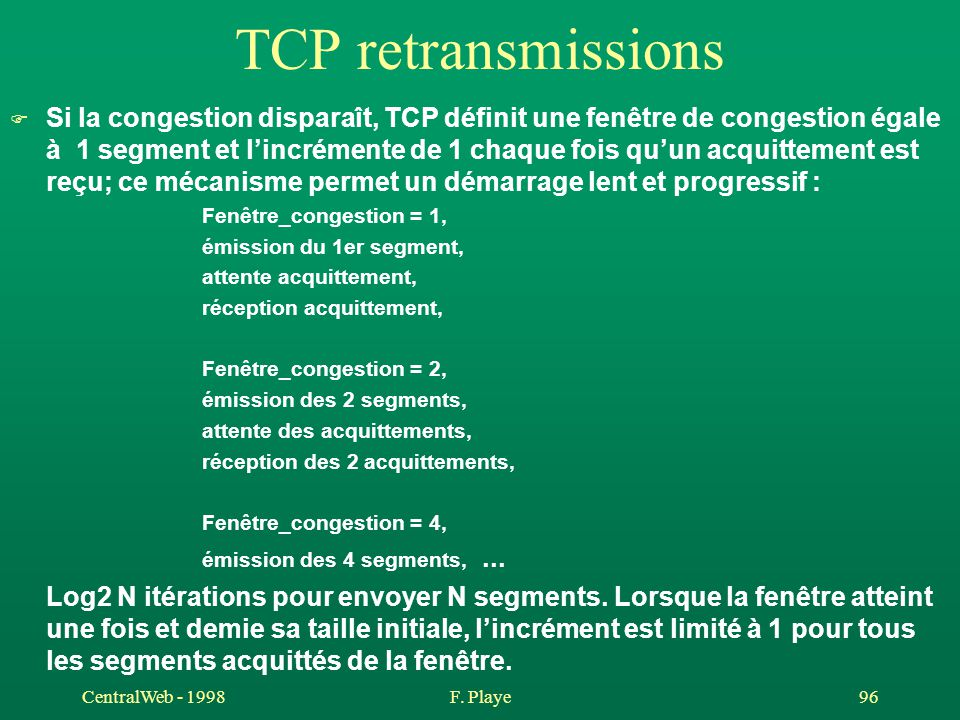 TCP retransmissions