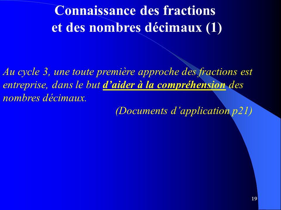 Connaissance des fractions et des nombres décimaux (1)