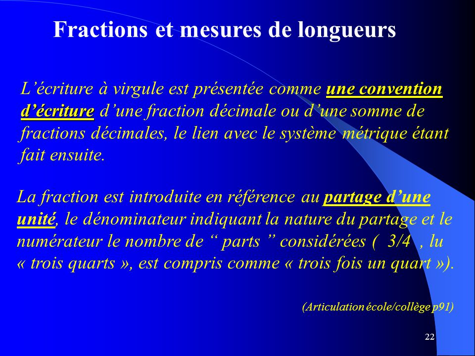 Fractions et mesures de longueurs