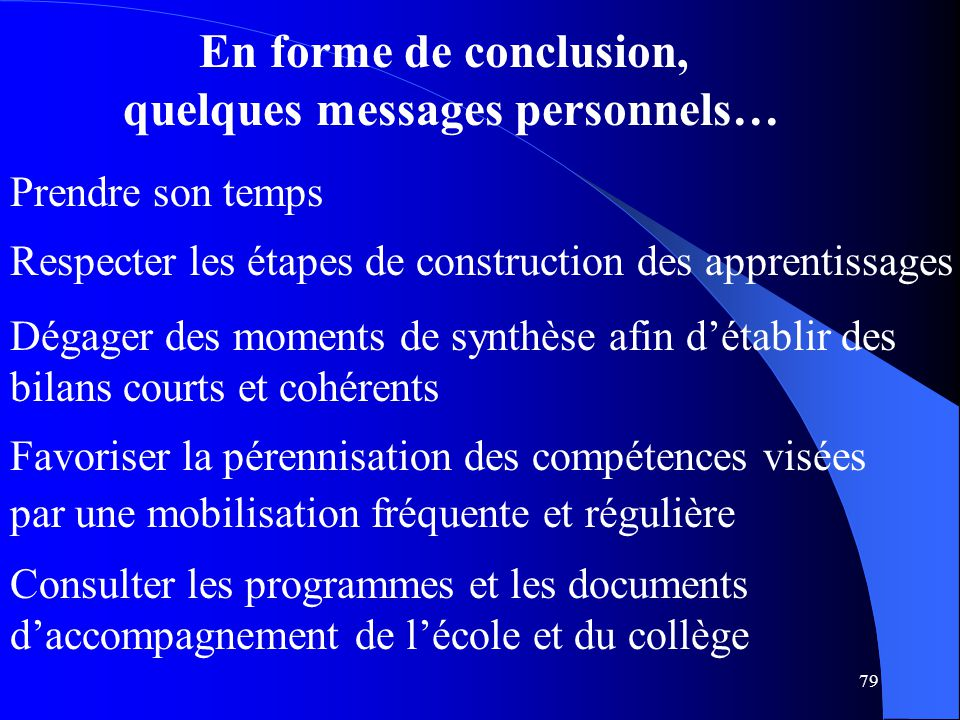 quelques messages personnels…