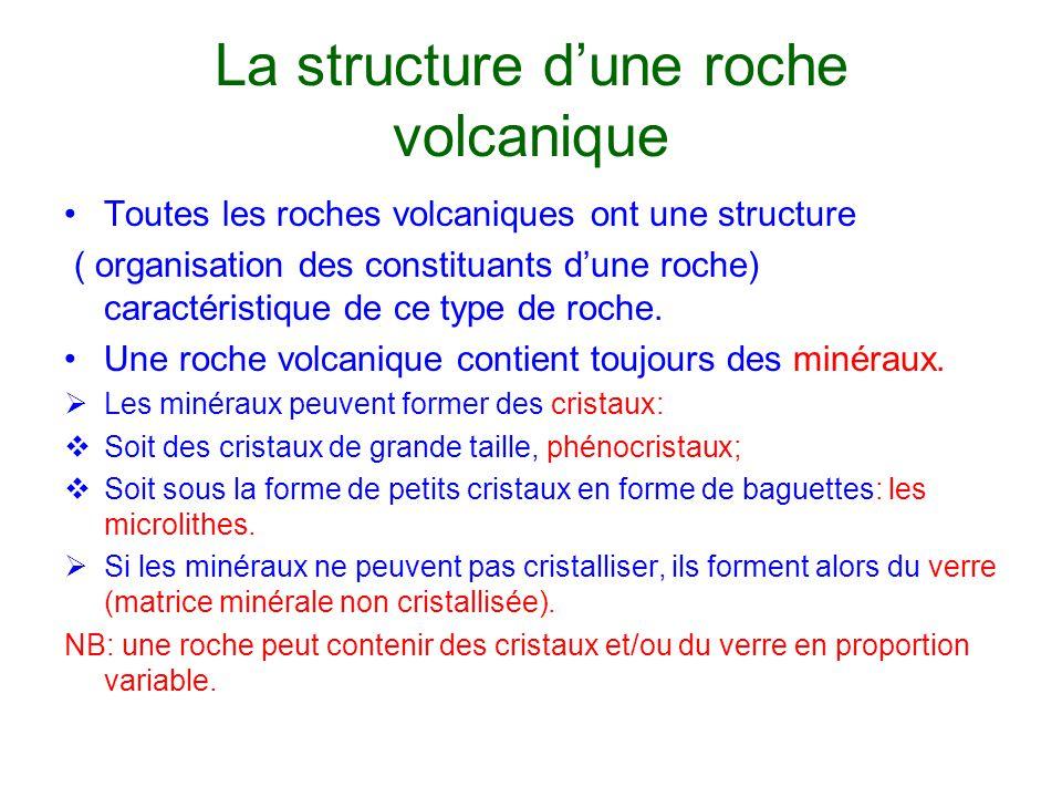 La structure d'une roche volcanique